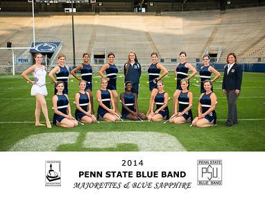 Penn State Blue Band Majorettes & Blue Sapphire 2014