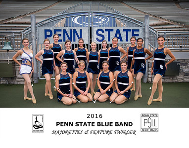 Penn State Blue Band Majorettes & Feature Twirler 2016