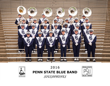 Penn State Blue Band 2016 Sousaphones