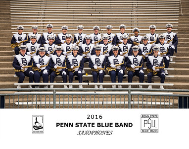 Penn State Blue Band 2016 Saxophones