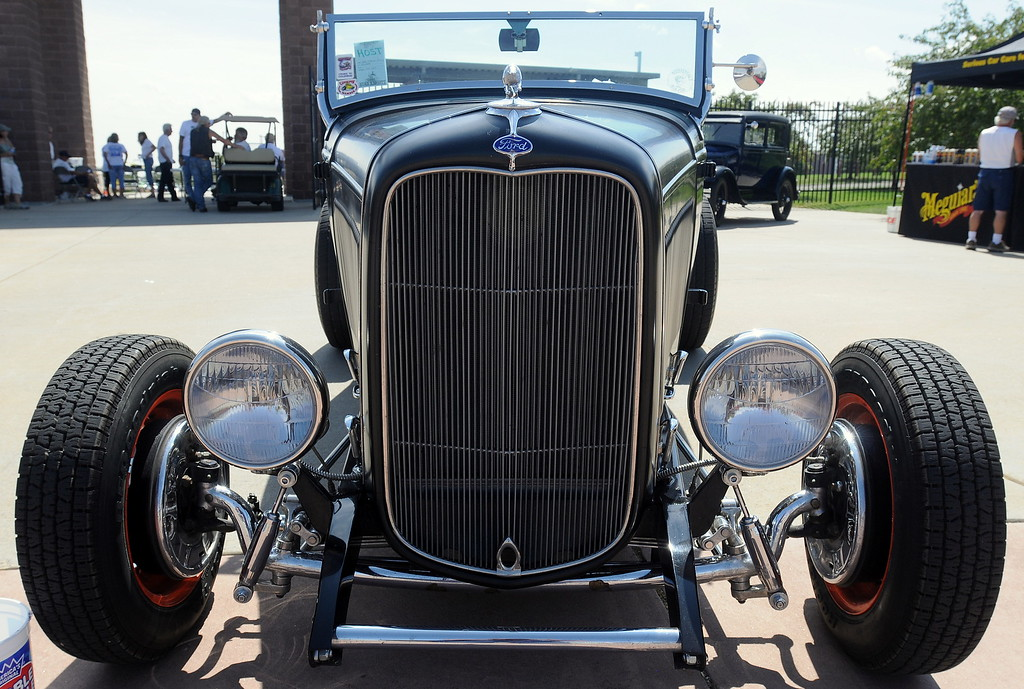 . A 1932 Ford at the 35th annual Blue Light Special car show put on at The Ranch in Loveland by the Blue Knights Car Club. (Photo by Craig Young / Loveland Reporter-Herald)