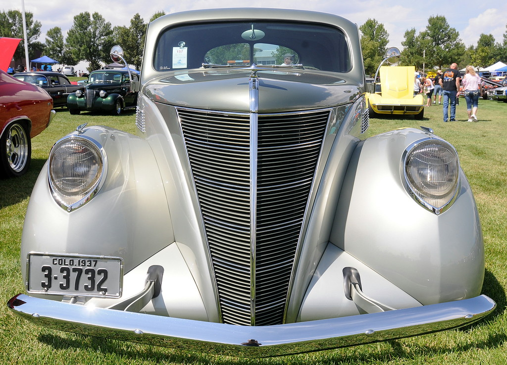 . A 1937 Lincoln Zephyr at the 35th annual Blue Light Special car show put on at The Ranch in Loveland by the Blue Knights Car Club. (Photo by Craig Young / Loveland Reporter-Herald)