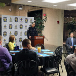 LMPD Police Chief Steve Conrad spoke during the breakfast meeting.