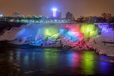 Colorful Niagara by Night