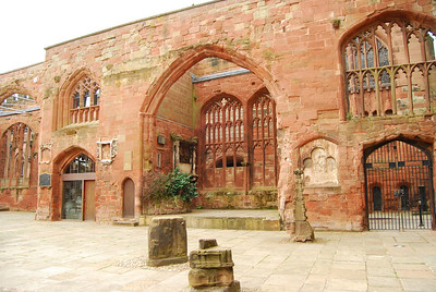 The old Coventry Cathedral
