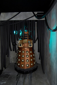 Dr. Who exhibition in the Coventry Transport Museum. Dalek
