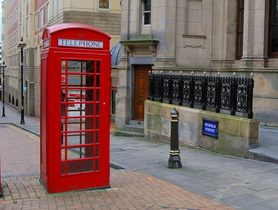British Telephone Box. Birmingham