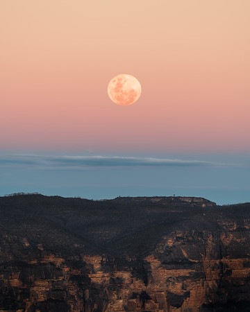 Moon over Blue Mountains