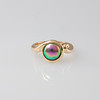 Blue Pearl Ring in Rose Gold