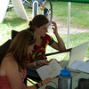 Heather and I in deep though getting the results out.
