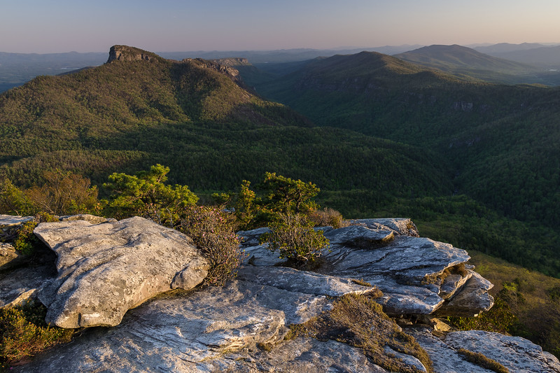 Linville Gorge from Hawksbill Mountain