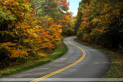 The Blue Ridge Parkway in North Carolina.