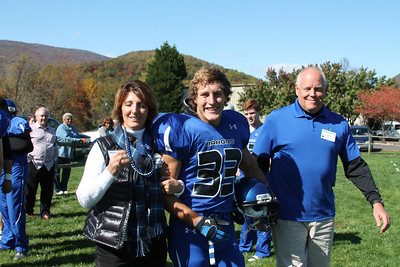 Parents of Seniors Escort Them to the Field