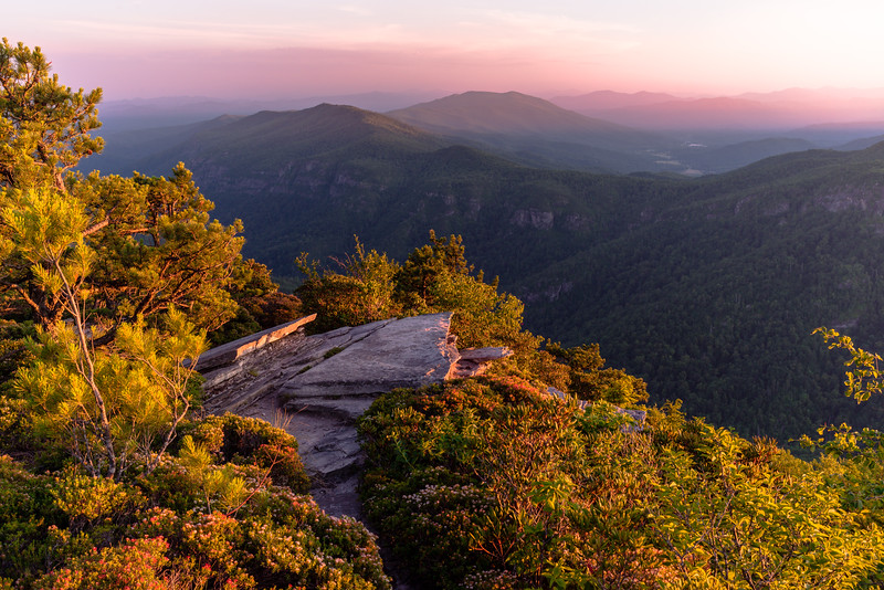 Sunset over Linville Gorge