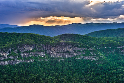 Sunrays Over Linville Gorge