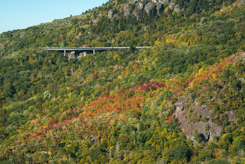 Early Fall Color Under Linn Cove Viaduct