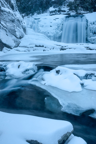 Twisted Falls in the Snow