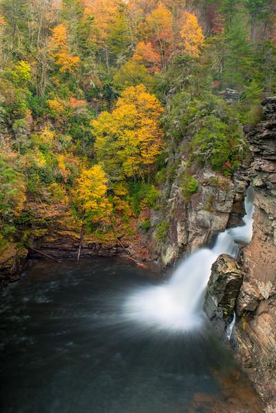 Linville Falls in Autumn