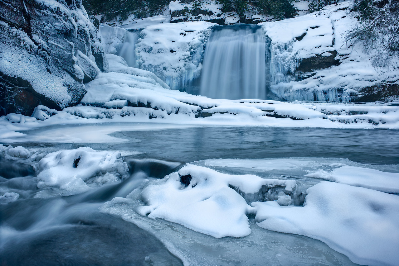 Winter at Twisted Falls