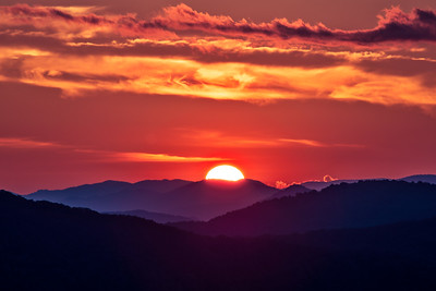 Lion King Sunset in Linville Gorge