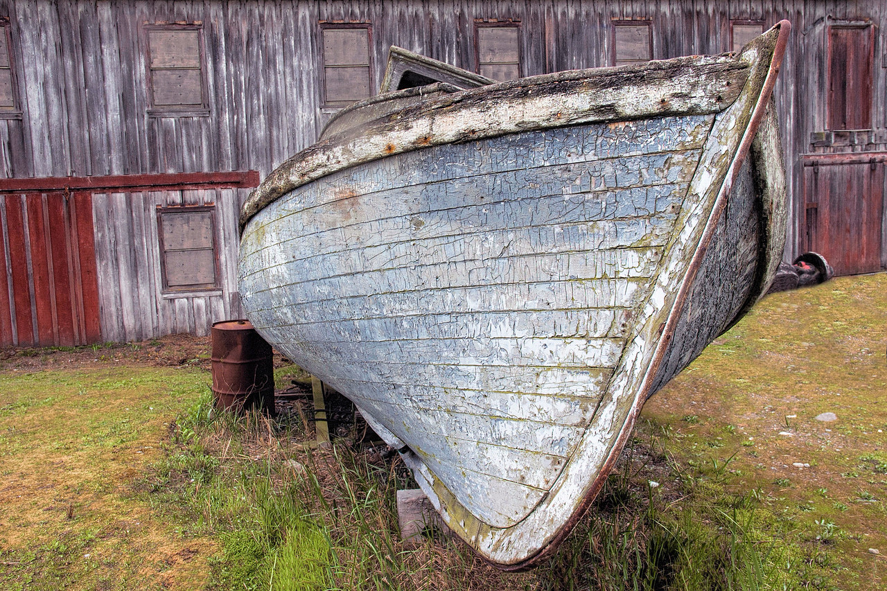 Old Boat In The Yard