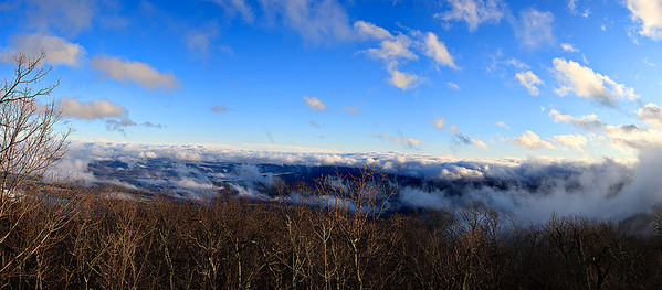 After the storm, clearing of skies viewed from our deck at Wintergreen resort.