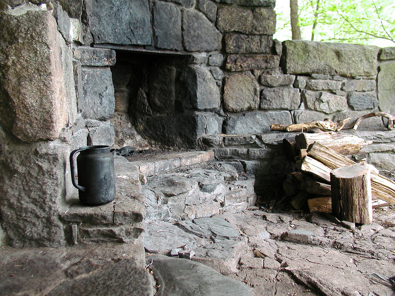 Fireplace at Rock Spring Cabin near Big Meadows, Shenandoah National Park