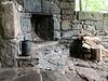 Fireplace at Rock Spring Cabin near Big Meadows, Shenandoah National Park