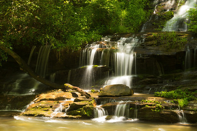Stream and waterfall near Deep Creek on the outskirts of Great Smokey Mountains National Park