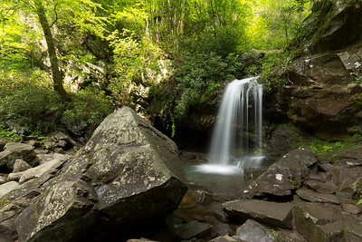 Grotto Falls in the Roaring Fork area of Great Smokey Mountains National Park