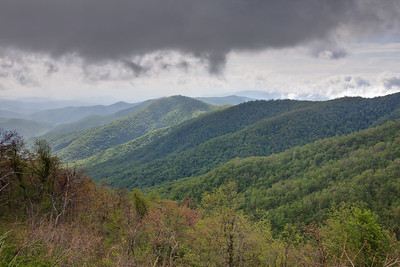 Storm rolling in near Mt. Pisgah on the Blue Ridge Parkway. HDR