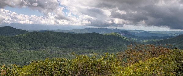 Vista along the Blue Ridge Parkway near Mt. Pisgah.  HDR