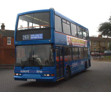 1743 - T743JPO - Fareham (bus station) - 14.2.04