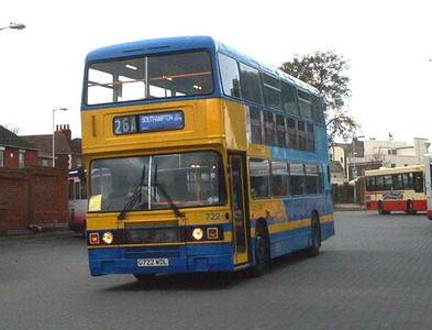 722 - G722WDL - Fareham (bus station) - 20.2.04
