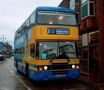 705 - A205MEL - Eastleigh (bus station) - 24.10.04