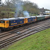 73107 + 73136 open up out of Horsted Keynes