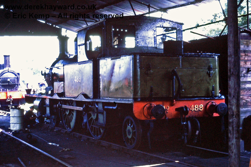 488 in the shed at Sheffield Park on the 10th Anniversary.  02.08.1970
