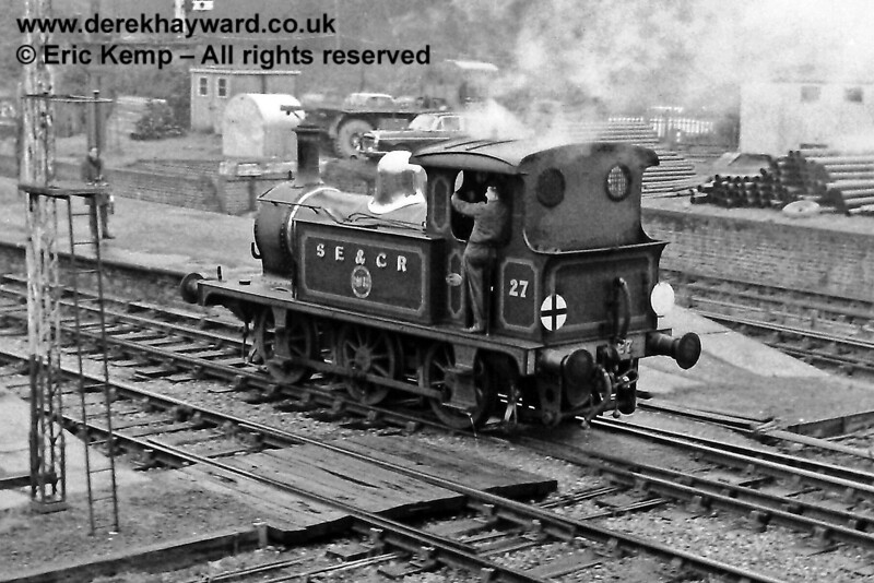 27 at Horsted Keynes.  16.03.1969.   Building materials were on the dock in connection with the construction of the carriage shed.