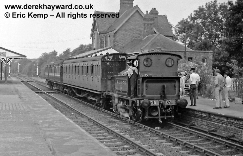 27 at Sheffield Park.  26.07.1969  The bracket signal had yet to be constructed north of the station.