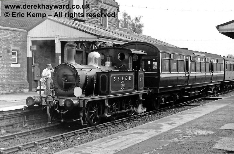27 ready to leave Sheffield Park, with the Observation Car behind the engine. 26.07.1969