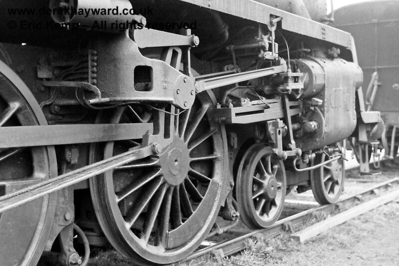 75027 with connecting rods removed (the loco had only recently arrived).  16.03.1969
