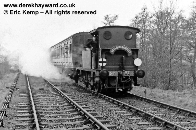 27 arrives at Sheffield Park with the Wealden Rambler. 16.03.1969