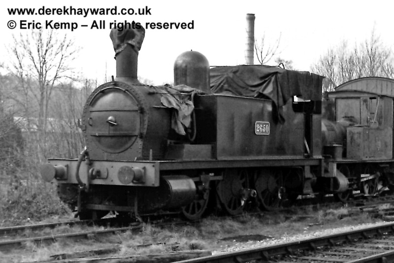 The North London Tank, then numbered 2650, at Sheffield Park. 08.03.1970