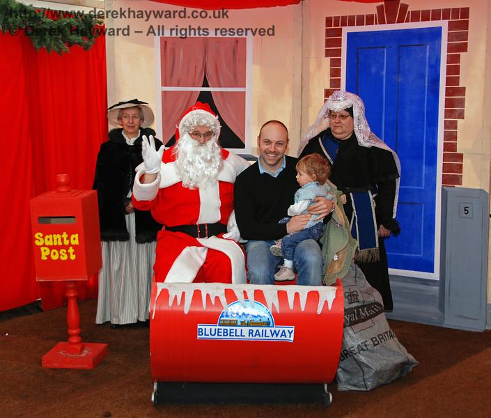 Santa's Grotto at Kingscote. 20.12.2008
