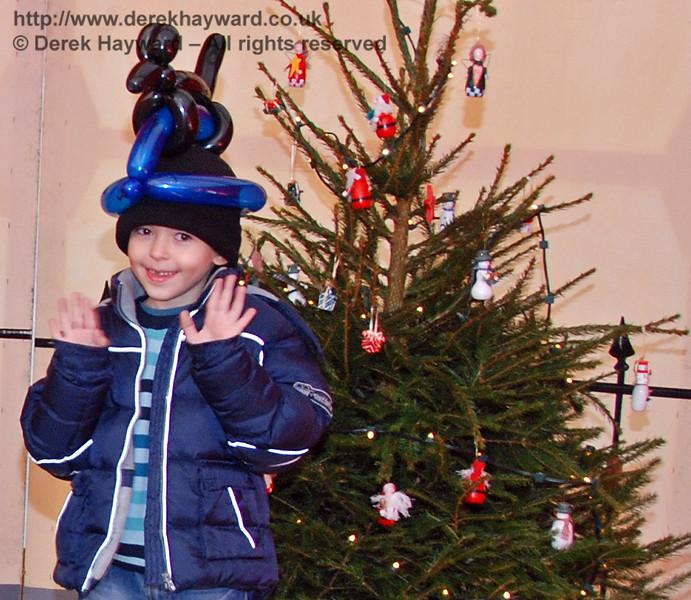 A happy customer in Santa's Grotto at Kingscote. 07.12.2008
