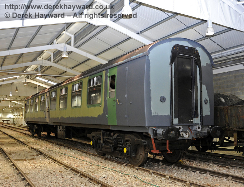 A second view of the newly arrived coach.  SP Carriage Shed 10.12.2011  3304