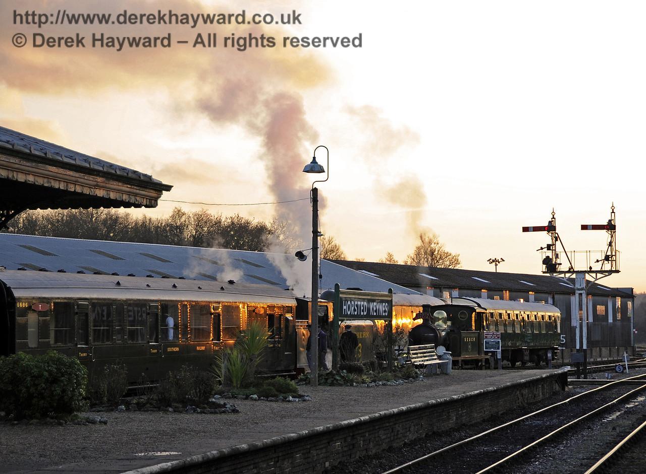 Bluebell Railway Santa Celebrations at Horsted Keynes. 08.12.2012   6005