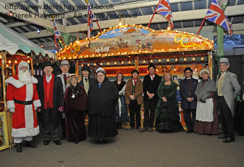 Some of the Victorian Christmas team at Horsted Keynes.  20.12.2013  9935