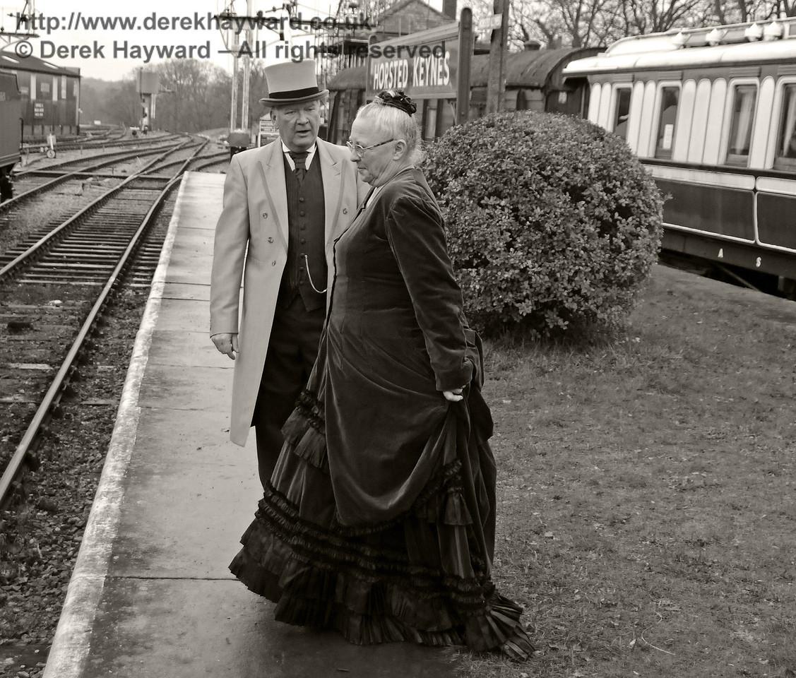 Period drama at Horsted Keynes.  14.12.2013  9850