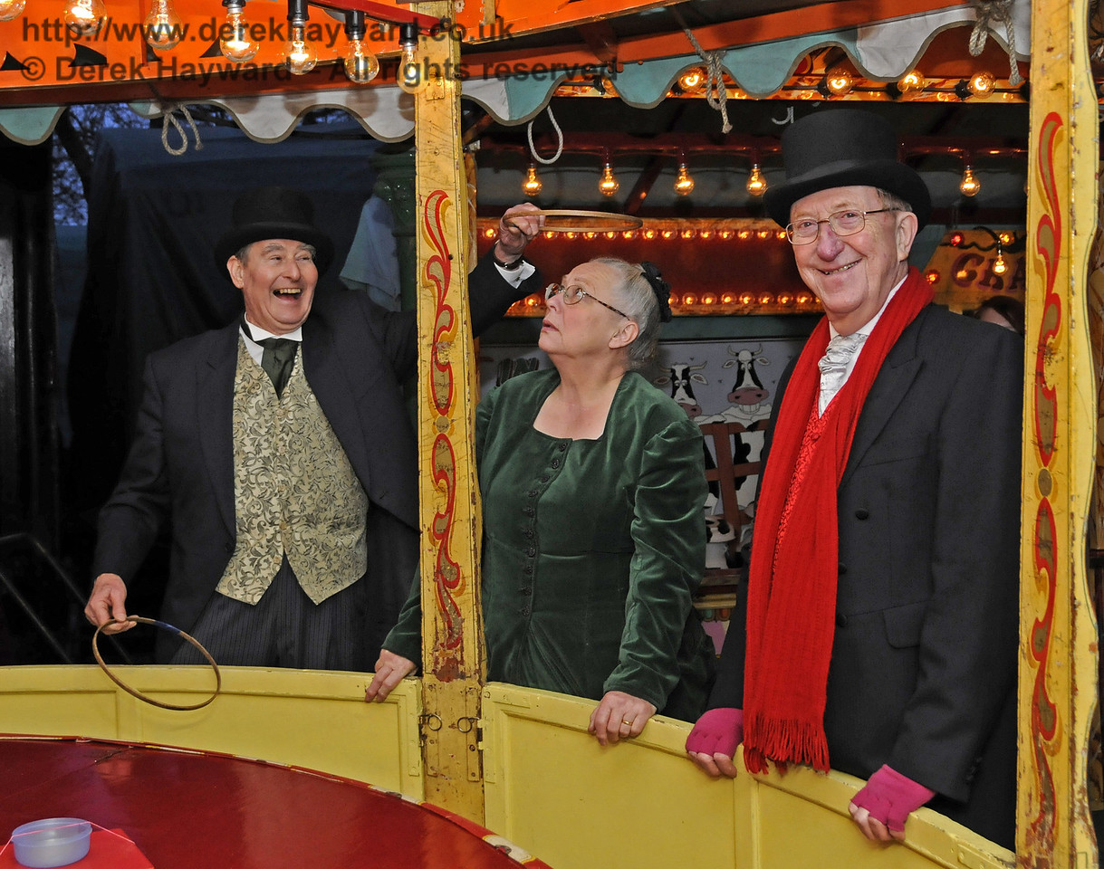 After the customers had left, some light hearted fun as a saintly halo is held over Julia's head.  I understand that Tony Sullivan's black eye is responding to treatment....  Horsted Keynes  20.12.2013  9940
